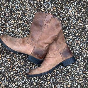 Men's ARIAT roper western cowboy boots 8D